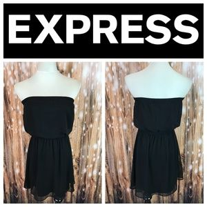 🆕 Express Black Strapless Mini Dress